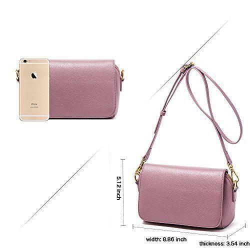Womens Leather Crossbody Bag Elegant Pink Fashion Purse Daily Shopping Gift NEW #WomensLeatherCrossbodyBag