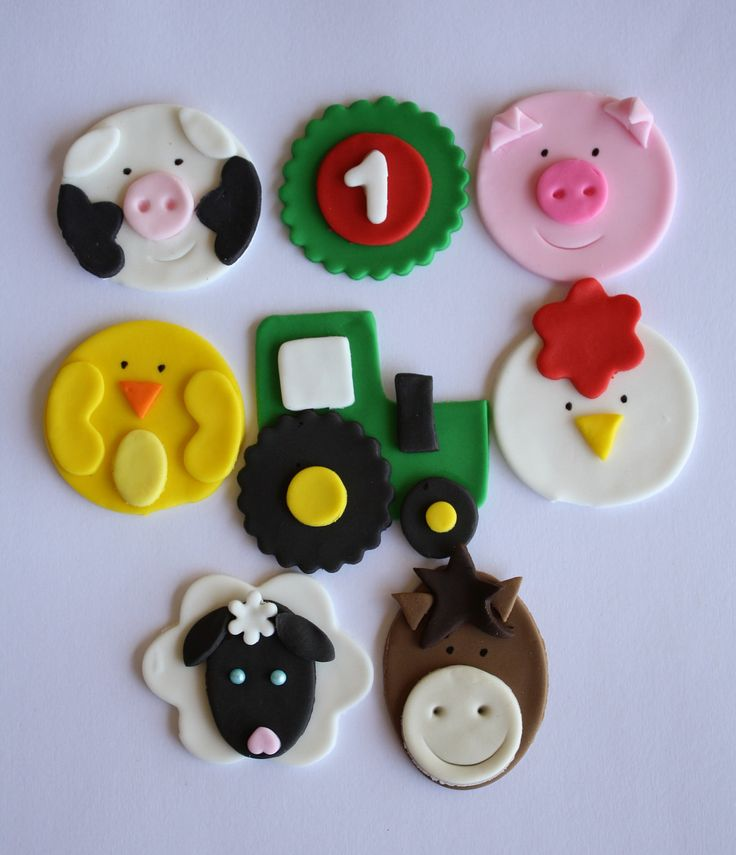 Animalitos de la granja para decoración.