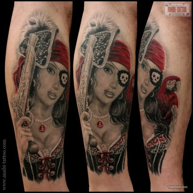 Pirate Girl Tattoo...this is really cool