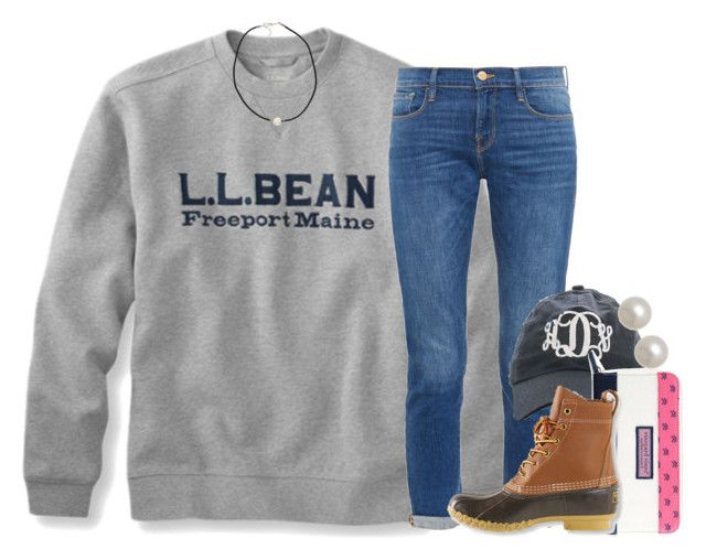 """LL.Bean"" by econgdon ❤ liked on Polyvore featuring Frame Denim, Vineyard Vines, L.L.Bean, NLY Accessories and Honora"