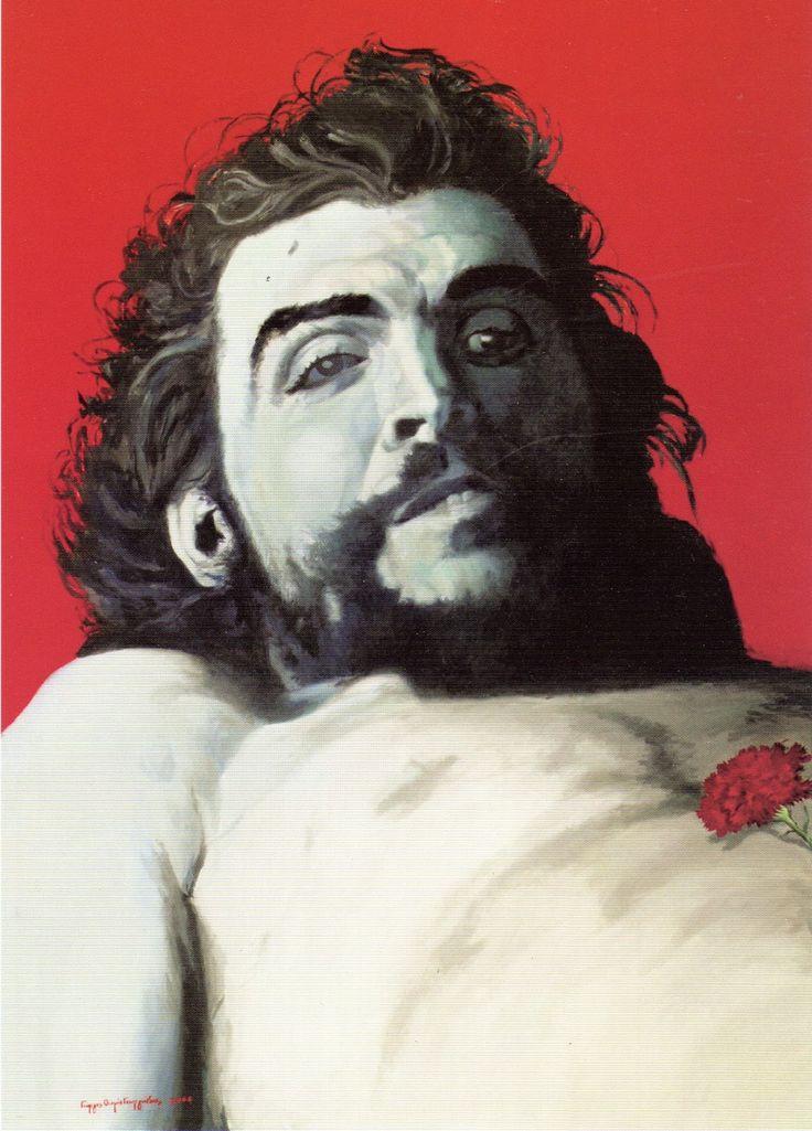 'Η δολοφονία του Τσε Γκεβάρα' Λάδι σε μουσαμά, 180Χ125 εκ. 2006...Γιώργος Θωμά Γεωργιάδης