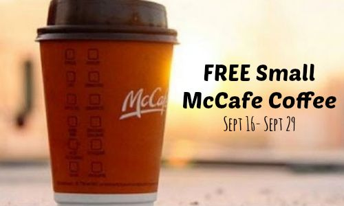 free McDonald's Coffee (Sept 16 to Sept 29, 2014)