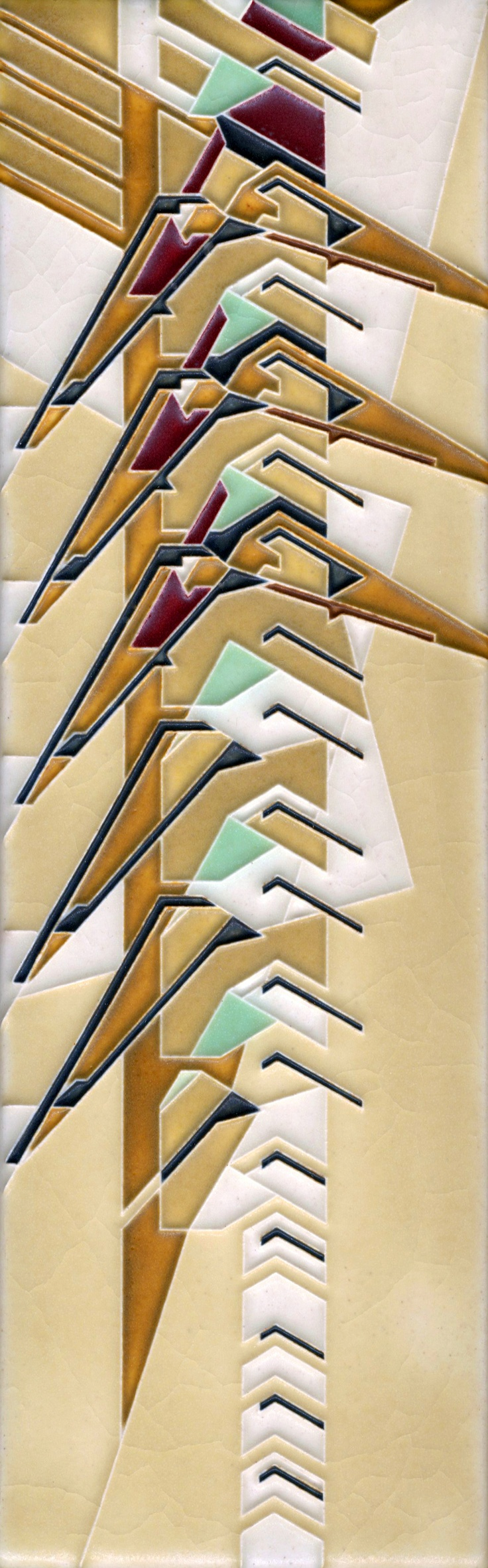 4x12 Christian House Rug By Motawi Tileworks (Frank Lloyd Wright Design)