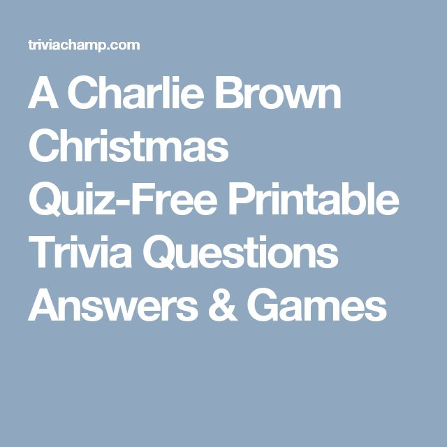 A Charlie Brown Christmas Quiz-Free Printable Trivia Questions Answers & Games