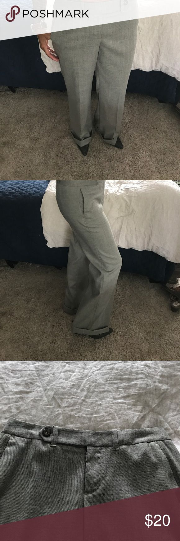 Gap trousers. Great tweed look trousers  with cuffed leg. Love the button details. Inseam is 31 inches and waist flat is 15inches. GAP Pants Trousers