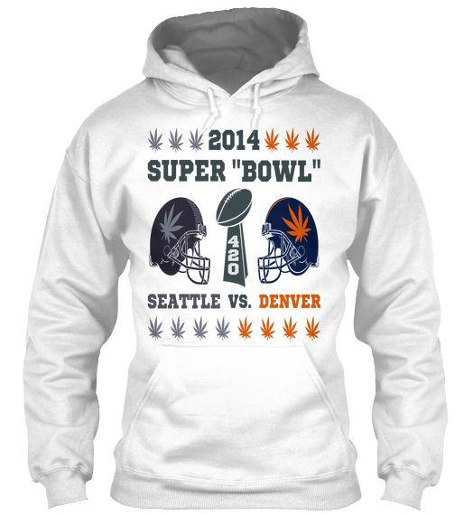 """420 Super """"Bowl"""" Marijuana Hoodie  #nfl #seahawks #broncos #marijuana #weed #420 #football #superbowl"""