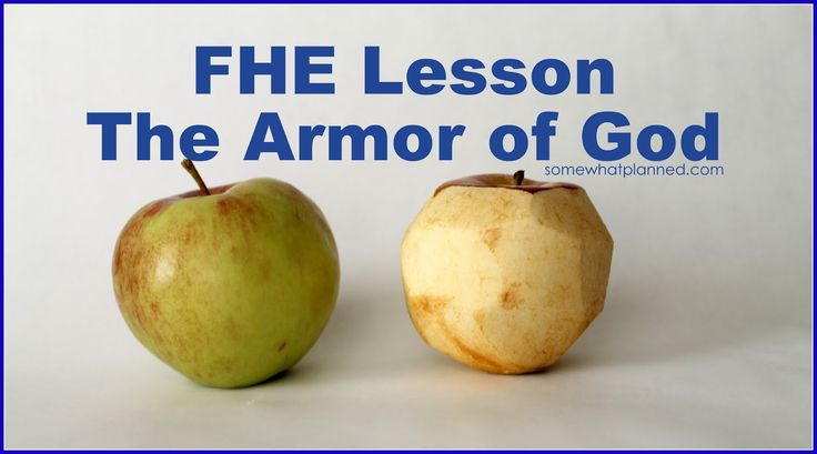 What a great object lesson about The Armor of God.