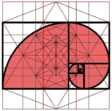 PHI: The Golden Ratio or Golden Section - a unique Ratio (or relationship between parts) that seems to be preferred by Nature as the best geometry for growth, energy conservation, elegance and has some fundamental relationships to the platonic solids and the Mandelbrot set.  It was formally discovered by the Greeks and incorporated into their art and architecture, but it has been shown to occur even in prehistoric art, possibly as a function of Man's natural affinity for it's beauty.