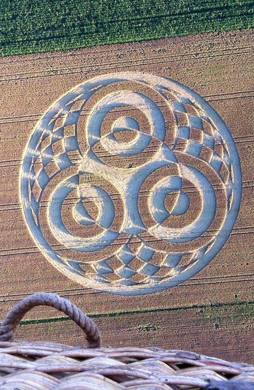 Crop Circle at Ammersee (Lake Ammer),Bavaria, Germany. Reported 18th July 2014