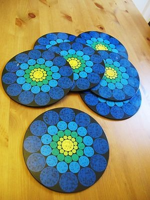 vintage placemats.60s style/funky/retro.original