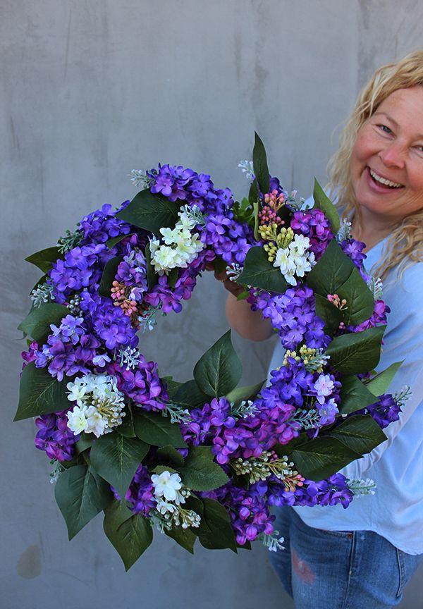 Sztuczne Kwiaty Bzu Wianek Dekoracyjny Tendom Pl Wreaths Floral Floral Wreath