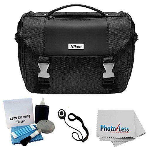 Nikon Starter Digital SLR Camera/Lens Gadget Bag + Photo4less Cleaning Cloth + Camera & Lens 5 Piece Cleaning Kit + Lens Cap Holder + Ultimate Bundle $36.95