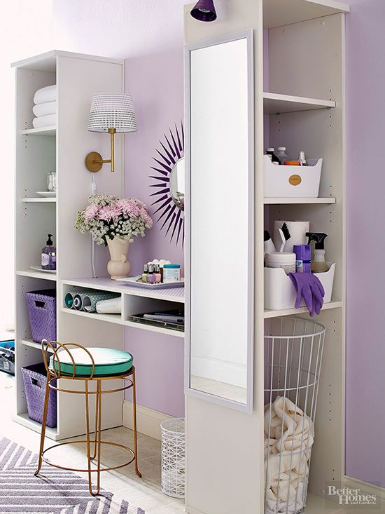 Make the most of small spaces by adding vertical storage to your office, kitchen, bathroom, family room, and more. Our easy DIY storage ideas will help you stay organized and showcase your possessions.