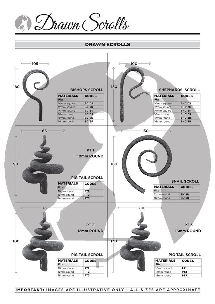 Drawn Scrolls: Bishops Hooks, Shepherds Scrolls, Snail Scrolls & Pig Tail Scrolls