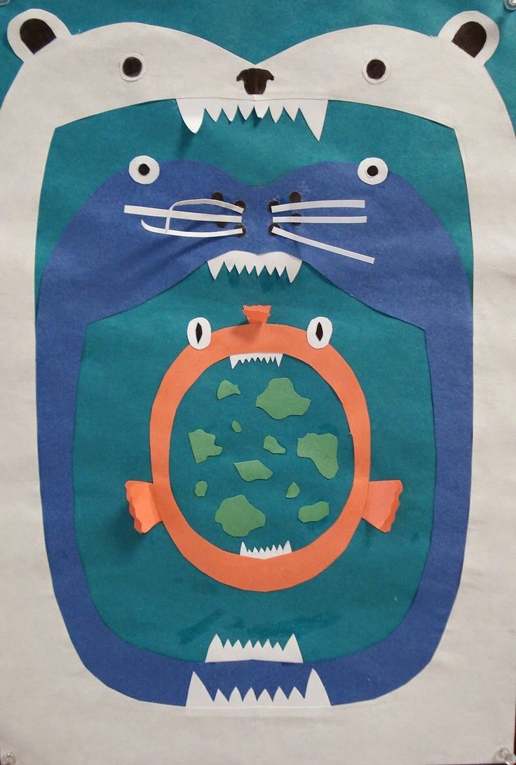 Food chain collage - art activity when studying animals. Use with Apologia…