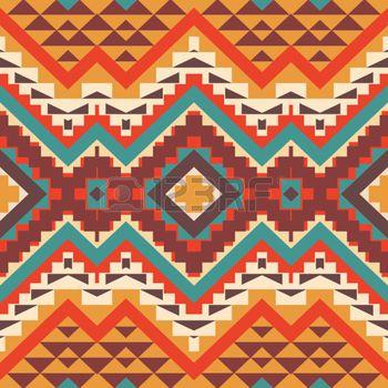 art amÉrindien: Motif ethnique coloré Seamless, illustration vectorielle