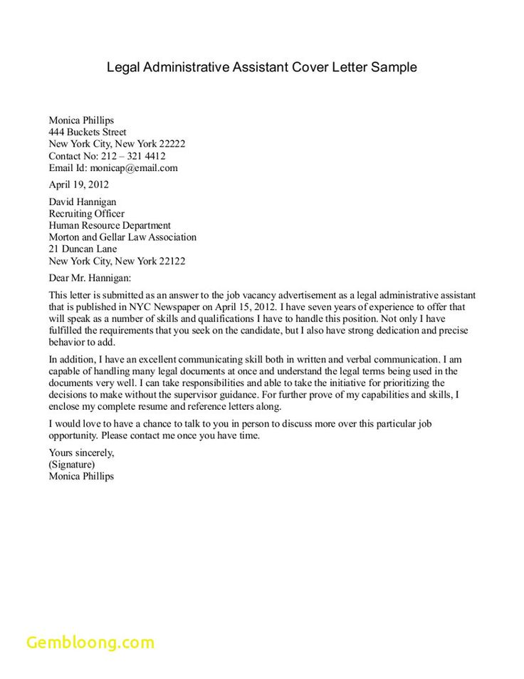 26 legal assistant cover letter administrative