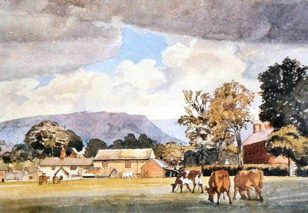 Sutton Lane Ends Farm by Charles Tunnicliffe