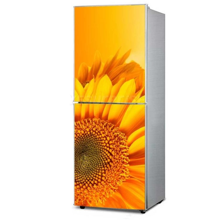 Big Sunflower Fridge Sticker Refrigerator Door Cover Vinyl Decal Decor 150cm