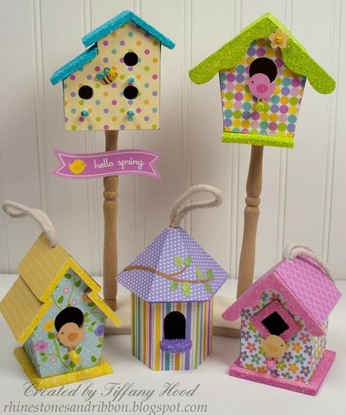 Hello Spring Birdhouses *Doodlebug Design* by Tiffany Hood