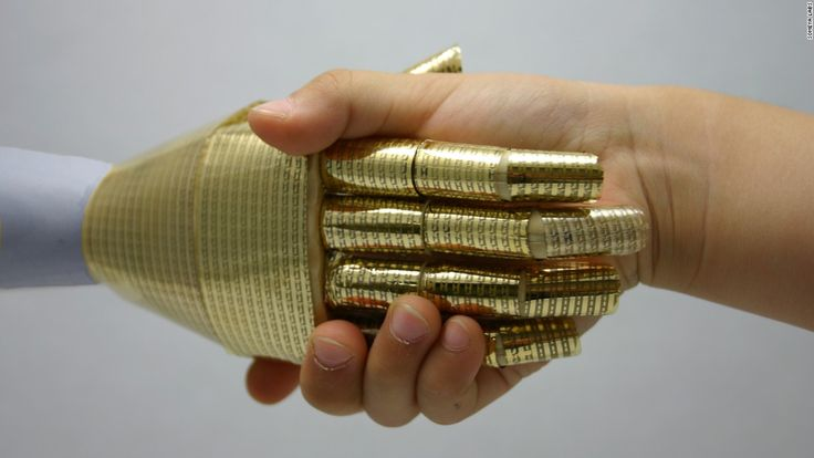 Takao Someya, a University of Tokyo scientist invented a bionic (electronic) skin (e-skin) that is bestowing new powers of sensitivity upon humans. Someya's goal is to let doctors wear a glove made from his technology in order to detect where the tumor is hiding by only feeling it. This way, referrals and scans will be reduced and the tumor could be detected earlier.