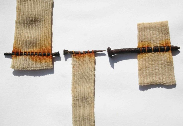 Alice Fox woven Tide Line (detail): Tapestry weave with found objects