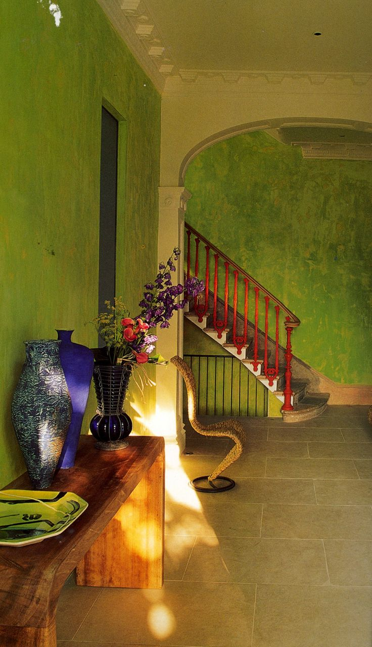 "Lime green wall featured in Tricia Guilds book ""in Town"""