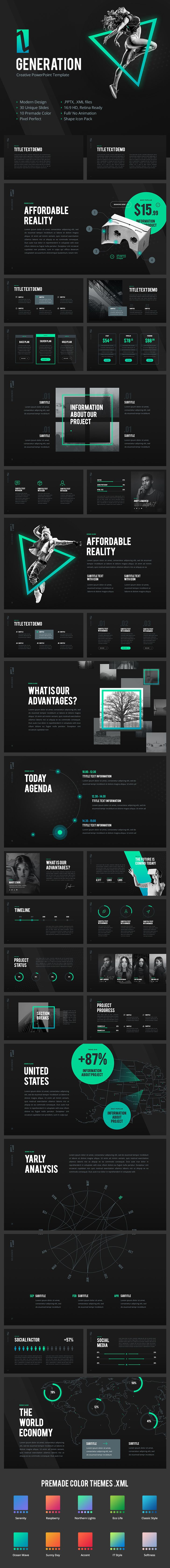 57 best powerpoint template images on pinterest ui ux animation generation z creative powerpoint template 30 unique slides 10 pre made color pptx full no animation hd aspect ratio creative and modern template toneelgroepblik Choice Image