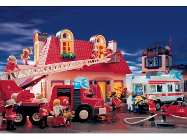 schmidt 55248 puzzle playmobil pompiers en action joa louca pinterest playmobil. Black Bedroom Furniture Sets. Home Design Ideas