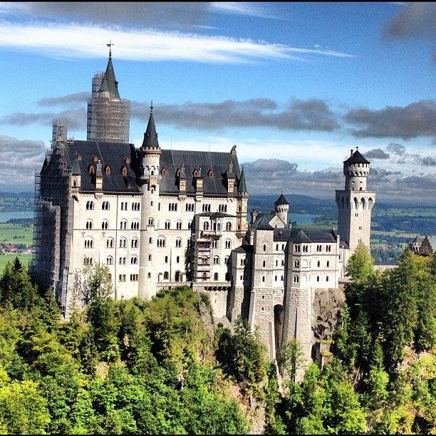 Schloss Neuschwanstein ve městě Schwangau, Bayern