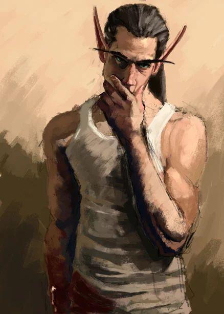Blood elf thug