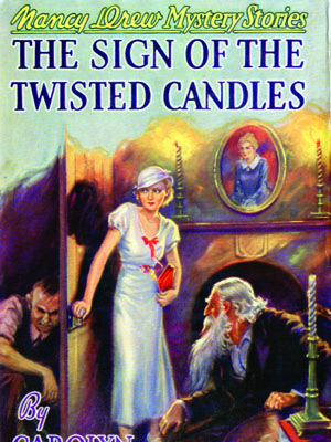9. The Sign of Twisted CandlesThe Sign of Twisted Candles incorporates a misappropriated inheritance, a hidden identity, and an unforgettable ladder scene as another mystery falls into the lap of the young Ms. Drew.    Read more: Original Nancy Drew Books in Order - Summary of Nancy Drew Mysteries - Country Living