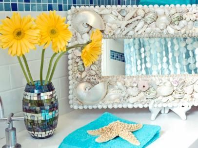 Seashell Bathroom Decor Ideas: Pictures & Tips From HGTV | Bathroom Ideas & Design with Vanities, Tile, Cabinets, Sinks | HGTV