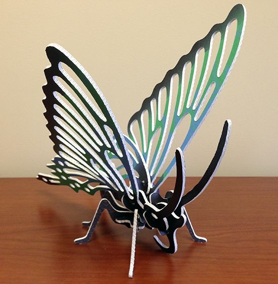 Butterfly cut-out using conVerd Board media