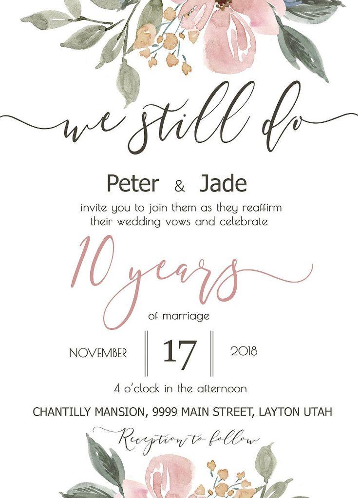 касается приглашения на юбилей свадьбы 10 лет одной