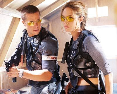 """""""Your aim's as bad as your cooking sweetheart... and that's saying something!"""" (Mr. and Mrs. Smith)"""