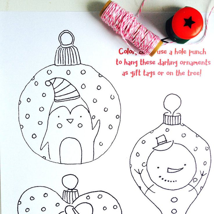 46++ Christmas ornaments coloring pages pdf information
