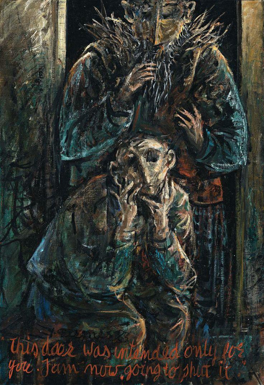 Yosl Bergner (b1920)  The trial of Franz Kafka.