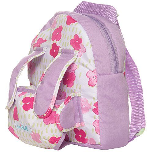 """Manhattan Toy Baby Stella Baby Carrier and Backpack Baby Doll Accessory for 15"""" Dolls - This Baby Stella Baby Carrier and Backpack fits both a Baby Stella doll and your toddler comfortably. This great toy helps little ones practice nurturing and fine motor skills. The reinforced padded case with zipper enclosure holds most of her Baby Stella accessories and other keepsakes. Comes eq..."""