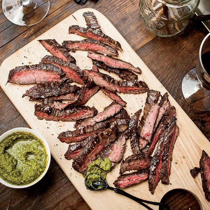 Grilled Skirt Steak with Green Sriracha | Food & Wine