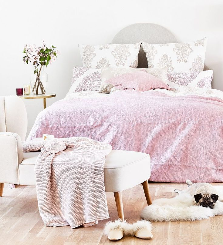 Made Tagesdecke Rosa Home Decor Furniture Bed