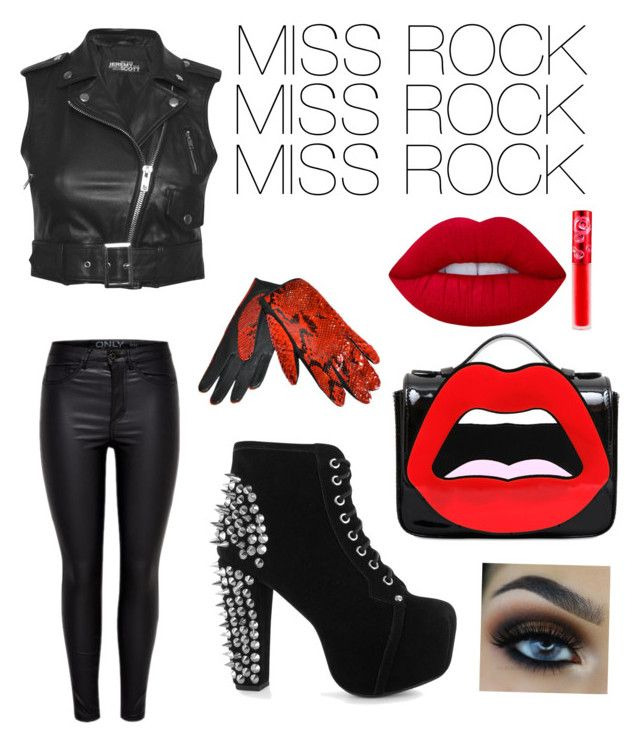 """""""MISS ROCK"""" by flobetty on Polyvore featuring Mode, Jeremy Scott, Jeffrey Campbell, Yazbukey, Lime Crime und Yves Saint Laurent"""
