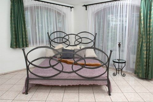 With its exceptionally unique design, the Luciana Bed is a true showstopper and will make for a dramatic focal point in the modern bedroom. The playful design combines round and linear forms to perfection, making a style statement unlike any other.  Meticulously handcrafted, the Luciana Bed is as exceptional in its quality as it is in its style. The bed has all of the hallmarks of traditional European craftsmanship and adds an unexpected finishing touch to the decor of the bedroom.