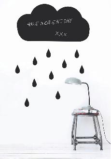 Black Cloud wall stickers fusiladas con pintura pero tooooooodo el mundo las tiene. zzz