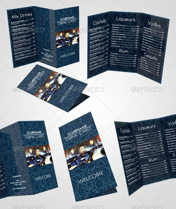 Drink Card Menu Food Menus Print Templates Here Http Graphicriver Item 3929708 S Rank 1415 Re Template
