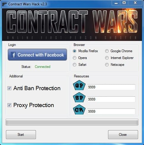 Feel free to grab this Contract Wars Hack Download's link below the article. This free Contract Wars cheat is for Facebook games platform and is completely compatible with Mozilla, Opera, Safari, Chrome and Netscape. It generates GP (Gold Points), SP (Skill Points) and CR (Credits). We've been... https://hacksource.net/contract-wars-hack-download/