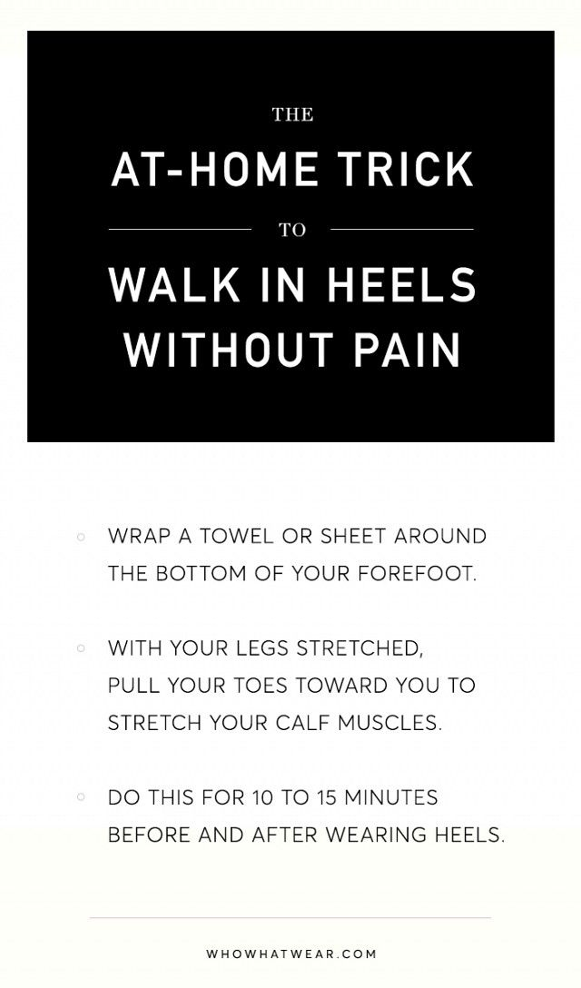 An At-Home Trick to Walk in Heels Without Pain | WhoWhatWear