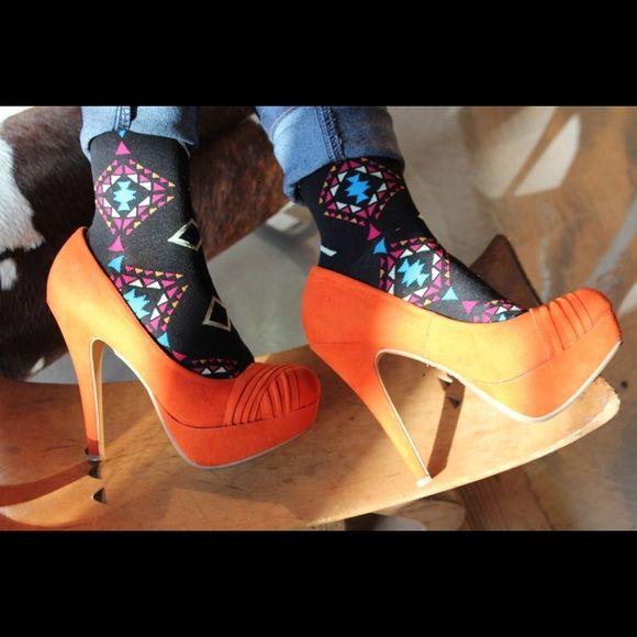 Womens Aztec sock Womens 200 needle count Aztec sock Charisma Hosiery Accessories Hosiery & Socks