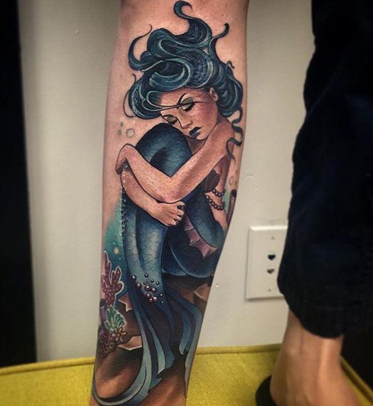 "mermaids-luv: "" Mermaids and tropical tattoos ""                                                                                                                                                                                 More"