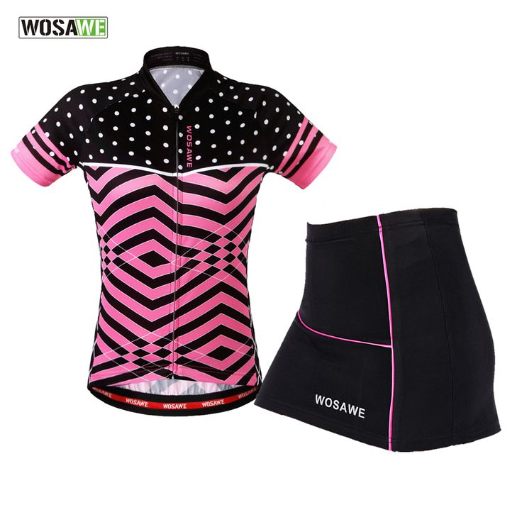 WOSAWE Cycling Clothes Teams Mini Skirt + Shirt Ropa Ciclismo Short sleeve Cycling Jersey Sets Breathable MTB Bike Clothing #Affiliate